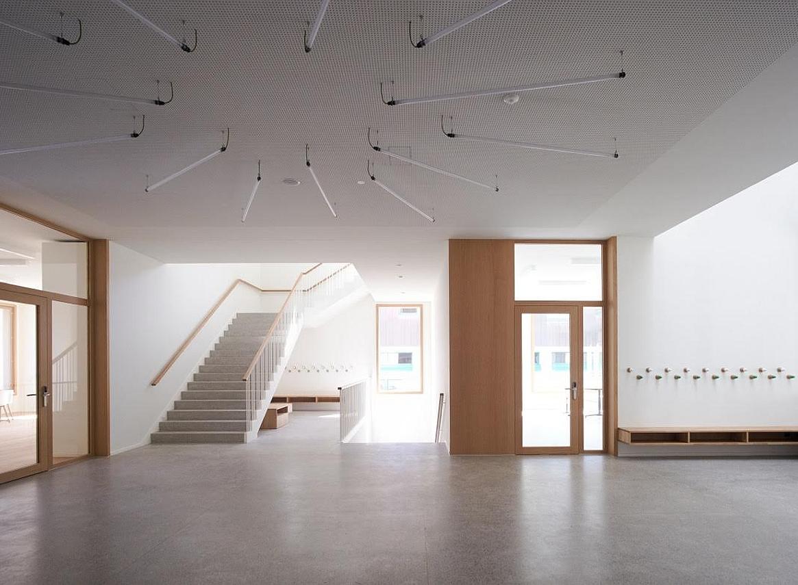 Blick ins neue Schulhaus «Mühlematt»